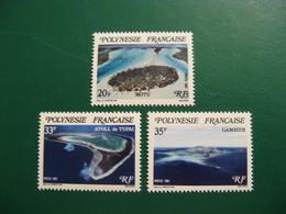 POLYNESIE YVERT POSTE ORDINAIRE N° 186/188 TIMBRES NEUFS** LUXE - MNH - COTE 3,15 EUROS - Neufs