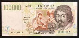 100000 Lire Caravaggio II° Tipo Serie Sostitutiva XD....A 1997 Spl/sup Lotto.1909 - 10000 Lire