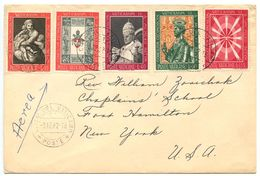 Vatican 1962 Airmail Cover To Fort Hamilton, NY W/ Scott 347/352 Vatican II - Covers & Documents