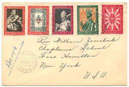 Vatican 1962 Airmail Cover To Fort Hamilton, NY W/ Scott 347/352 Vatican II - Vatican