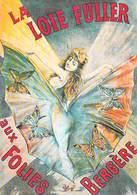 PUB PUBLICITE -NUGERON D 11 DANSE La LOÏE FULLER Aux FOLIES BERGERE  (Cabaret Spectacle Dance)*PRIX FIXE - Publicité