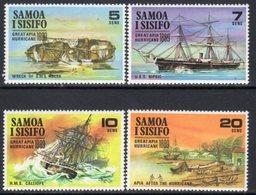 Samoa 1970 Great Apia Hurricane Set Of 4, MNH, SG 341/4 - Samoa
