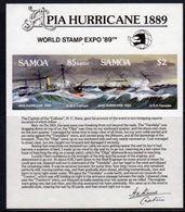 Samoa 1989 Stamp Expo '89 Apia Hurricane MS, MNH, SG 839 - Samoa