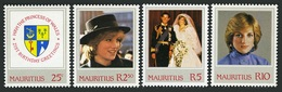 MAURITIUS 1982 ROYALTY PRINCES DIANA 21ST BIRTHDAY SET MNH - Mauritius (1968-...)
