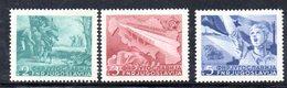 YUG68A - YUGOSLAVIA 1950,   Unificato N. 541/543  Nuovi  *** - Nuovi