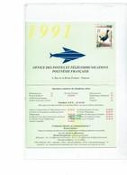 LCA11 - POLYNESIE FRANCAISE PSEUDO ENTIER DE L'OPT 1991 - Autres