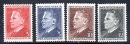YUG69A - YUGOSLAVIA 1950,   Unificato N. 544/547  Nuovi  ***  TITO - 1945-1992 Repubblica Socialista Federale Di Jugoslavia