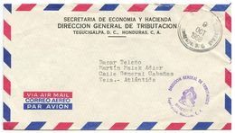 Honduras 1968 Official / Airmail Cover Tegucigalpa - Secretaria De Economia Y Hacienda - Honduras