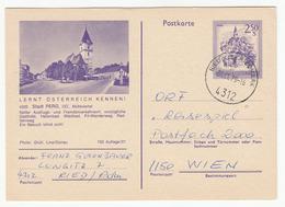 Austria, Perg Illustrated Postal Stationery Postkarte Travelled 1979 Ried In Der Riedmark Pmk B180715 - Ganzsachen