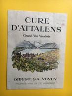 8523- Cure D'Attalens Obrist Vevey Suisse - Autres