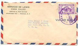 Panama 1956 Airmail Cover To U.S. W/ Scott C150 Rotary International - Panama