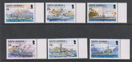 South Georgia 2002 Royal Navy 6v (+margin) ** Mnh (39456) - Zuid-Georgia