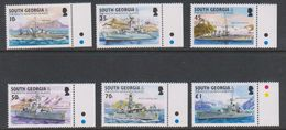 South Georgia 2002 Royal Navy 6v (+margin) ** Mnh (39456A) - Zuid-Georgia