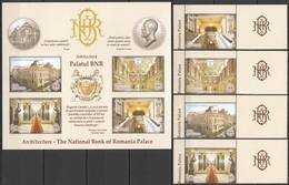 M296 2013 ROMANIA ARCHITECTURE THE NATIONAL BANK OF ROMANIAN PALACE 1SET+KB MNH - Architecture