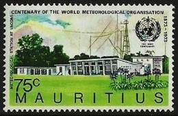 MAURITIUS 1973 IMO WMO WEATHER METEOROLOGICAL ORGANISATION CENTENARY SET MNH - Mauritius (1968-...)
