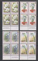 Falkland Islands 2003 Christmas / Flowers  4v Bl Of 4 ** Mnh (39456B) - Falklandeilanden