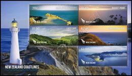 Nuova Zelanda / New Zealand 2013: Foglietto Paesaggi Costieri / Coastlines S/S ** - Blocks & Sheetlets