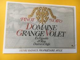 8534- Pinot Noir Domaine De Grange Volet Ollon Suisse - Autres