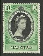 MAURITIUS 1953 ROYALTY CORONATION SET MNH - Mauritius (1968-...)