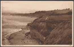 Cliff Path & Orcombe Beach, Exmouth, Devon, 1950 - Postcard - England