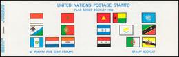 UNO New York AIDIP-Edition Flaggen-Markenheftchen 1989 Nummer 10A (weiß) **  - New York - Sede Centrale Delle NU