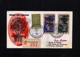Mauritania 1962 Fight Against Malaria Interesting Registered Letter - Enfermedades