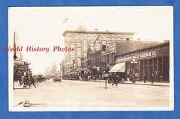 CPA Photo - GREAT FALLS , Montana - Central Avenue - Automobile - Shop Stephens Murphy Maclay Hardware Co. - Great Falls