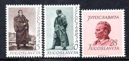 YUG75A - YUGOSLAVIA 1952,  Unificato N. 607/609  Nuovi  *** TITO - 1945-1992 Repubblica Socialista Federale Di Jugoslavia