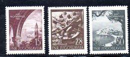 YUG75D - YUGOSLAVIA 1952,  Unificato N. 617/619   Nuovi  *** - 1945-1992 Repubblica Socialista Federale Di Jugoslavia