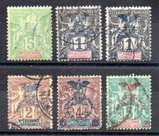 Nouvelle Calédonie  Neukaledonien Y&T 59°(2x), 67°, 68°, 69°, 70° - Used Stamps