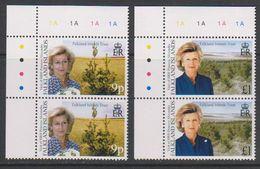 Falkland Islands 2000 Visit Princess Alexandra 2v (pair, Corner) ** Mnh (39457A) - Falklandeilanden