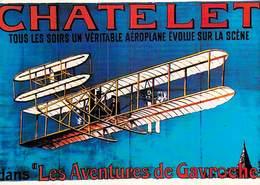 PUB PUBLICITE -NUGERON  I 4 NOS TRANSPORTS En 1900 CHATELET Aéroplane  (avion AVIATION) Les Aventures De Gavroche - Advertising