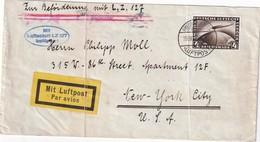 ALLEMAGNE 1928 LETTRE DE FRIEDRICHSHAFEN PAR LUFTSCHIFF GRAF ZEPPELIN  LZ 127 POUR NEW YORK - Luchtpost