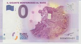 Billet Touristique 0 Euro Souvenir Italie - Il Gigante Monterosso Al Mare 2017-4 N°SEEW000401 - Private Proofs / Unofficial
