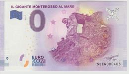 Billet Touristique 0 Euro Souvenir Italie - Il Gigante Monterosso Al Mare 2017-4 N°SEEW000403 - Private Proofs / Unofficial