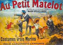 PUB Publicité  NUGERON   J 4  -  Au PETIT MATELOT  Paris Costumes Vrais Marins (marin Costume)  *PRIX FIXE - Advertising