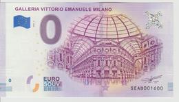 Billet Touristique 0 Euro Souvenir Italie - Galleria Vittorio Emanuele Milano 2018-1 N°SEAB001600 - Private Proofs / Unofficial