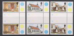 Falkland Islands 1999 St. Mary's Church 3v Gutter (+margin) ** Mnh (39457F) - Falklandeilanden