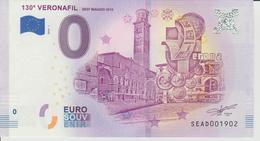 Billet Touristique 0 Euro Souvenir Italie - 130a Veronafil 2018-1 N°SEAD001902 - Private Proofs / Unofficial