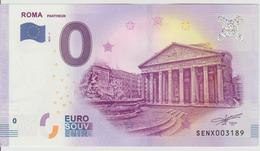 Billet Touristique 0 Euro Souvenir Italie - Roma Pantheon 2017-1 N°SENX003189 - Private Proofs / Unofficial