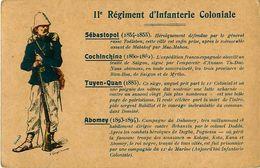 Cpa Carte Postale Du Drapeau, 11e Régiment D' Infanterie Coloniale - Illustration Georges Sauvage - Régiments