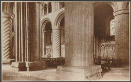 Columns, Durham Cathedral, Durham, C.1920 - Photochrom RP Postcard - Durham