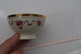 B/ France Picardie Nord Bol à Café Du Nord Rose Or Décalcomanie Coffee Ca 1920 1930 Hauteur 5 Cm Diametre 9,2cm - Cups
