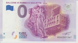 Billet Touristique 0 Euro Souvenir Italie - Balcone Di E Giulietta 2018-1 N°SEAC001367 - Private Proofs / Unofficial