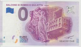 Billet Touristique 0 Euro Souvenir Italie - Balcone Di E Giulietta 2018-1 N°SEAC001368 - Private Proofs / Unofficial