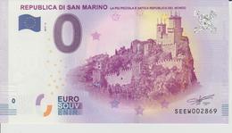 Billet Touristique 0 Euro Souvenir San Marin - Republica Di San Marino 2017-6 N°SEEW002869 - Private Proofs / Unofficial