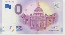 Billet Touristique 0 Euro Souvenir Vaticano 2018-2 N°SEGY001799 - Private Proofs / Unofficial