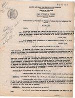 VP12.726 - PARIS - Acte De 1953 - Entre La S.N.C.F Ligne D'ORLEANS à VIERZON - Gare De LA FERTE SAINT AUBAIN & Mr NIAF - Chemin De Fer