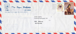 Taiwan Cover Sent To Denmark 12-5-2000 Topic Stamps (the Cover Is Bended) - 1945-... República De China