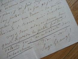 Eugène GRANGE (1810-1887) Chansonnier SOCIETE Du CAVEAU. Vaudeville. AUTOGRAPHE - Autographes
